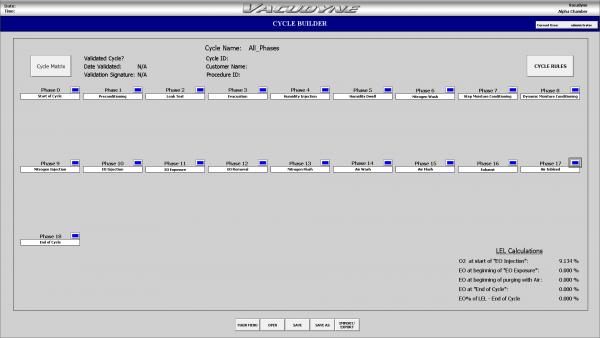 EO Control System - Custom Cycle Builder